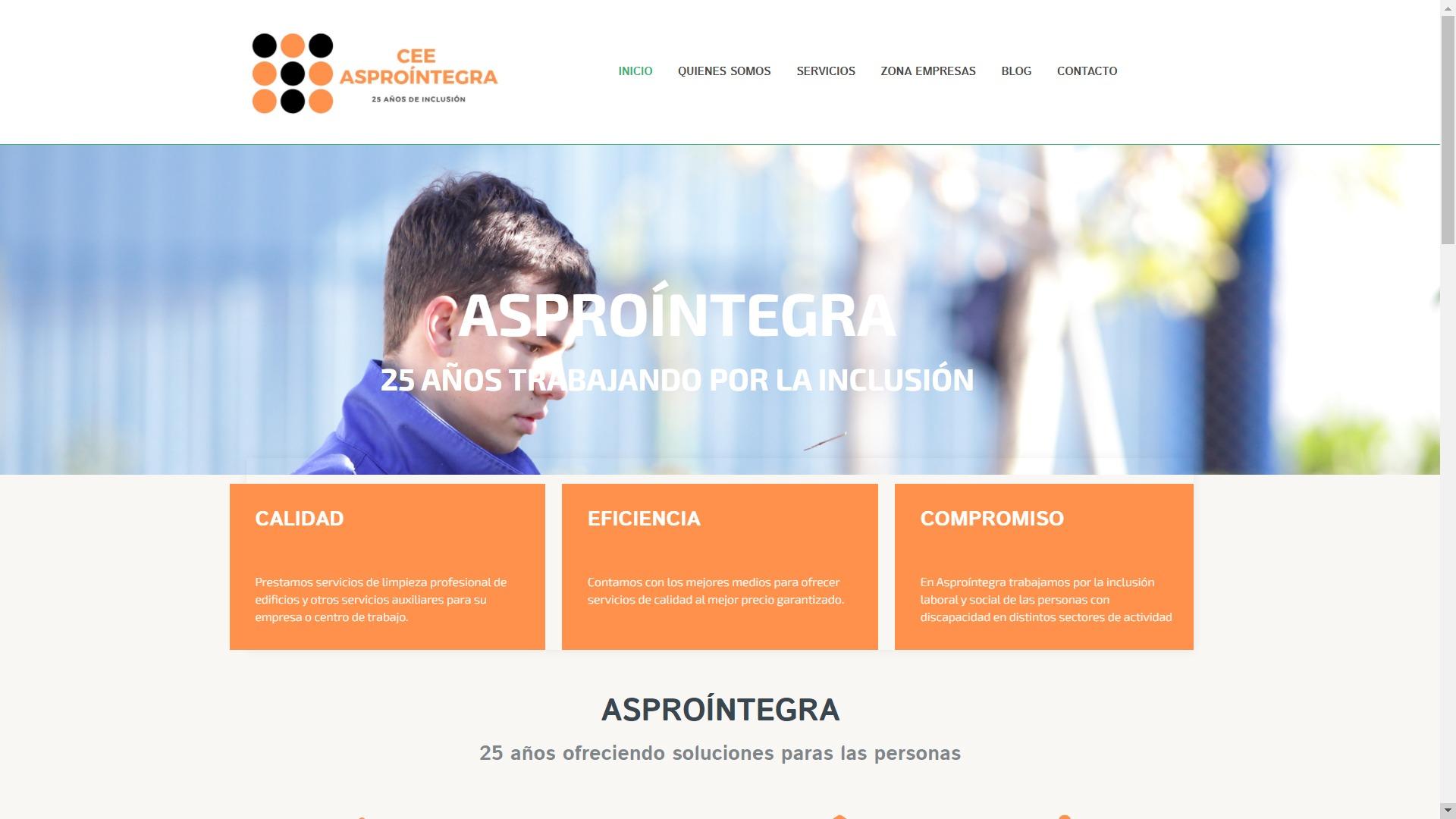 Desarrollo web para Asproíntegra