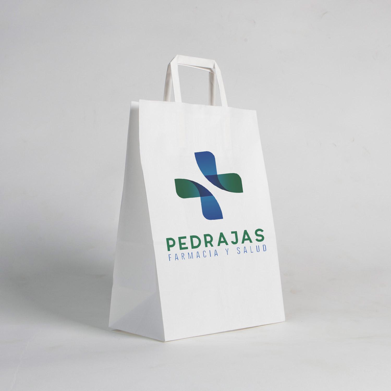 Branding para farmacia Pedrajas. Bolsa